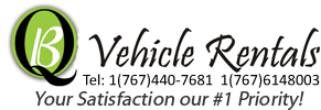 QB vehicle Rentals, number 1 car rental in dominica